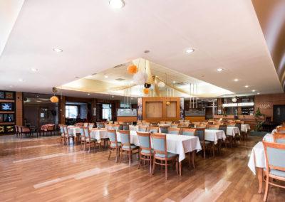 Étteremből fotózva a recepció felé